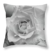 Black And White Rose Throw Pillow