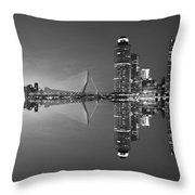 Black And White Rotterdam - The Netherlands Throw Pillow