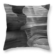 Black And White Sandstone Art Throw Pillow