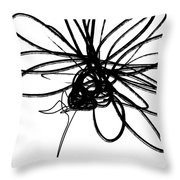 Black And White Sketch Flower 4- Art By Linda Woods Throw Pillow