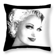 Black And White Smile Throw Pillow
