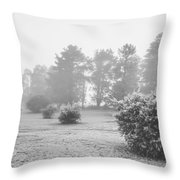 Black And White Snow Landscape Throw Pillow