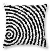 Black And White Spiral Throw Pillow