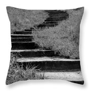 Black And White Steps Throw Pillow