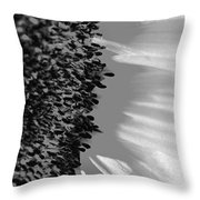 Black And White Sunflower Throw Pillow