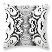 Black And White Symmetry   Throw Pillow