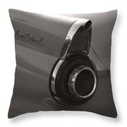 Black And White Thunderbird Tail Fin Throw Pillow