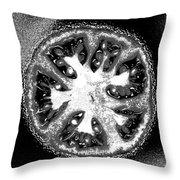 Black And White Tomato Throw Pillow