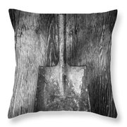 Square Point Shovel 1 Throw Pillow