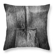 Square Point Shovel 3 Throw Pillow