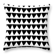 Black And White Triangles- Art By Linda Woods Throw Pillow