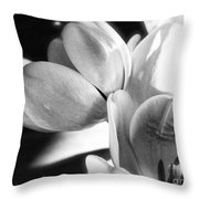 Black And White Tulips #4 Throw Pillow