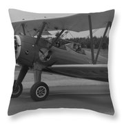 Black And White Us Aircraft Throw Pillow