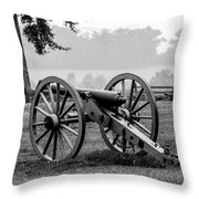 Black And White View Of The Angle Throw Pillow