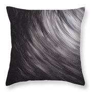 Black And White Wave Guam Throw Pillow