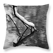 Black And White Winter Mood Throw Pillow