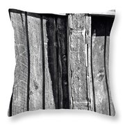 Black And White Wood Texture Throw Pillow