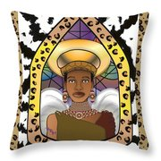 Black Angel Throw Pillow by Brenda Dulan Moore