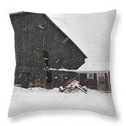 Black Barn IIi Throw Pillow