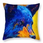 Black Bear Cub 2 Throw Pillow