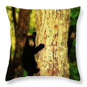Black Bear Cubs Throw Pillow by Gray  Artus
