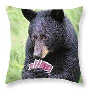 Black Bear Says I Call  Throw Pillow