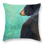 Black Bear's Bum Throw Pillow