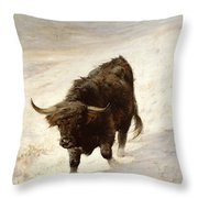 Black Beast Wanderer  Throw Pillow