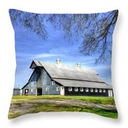 White Windows Historic Hopkinsville Kentucky Barn Art Throw Pillow