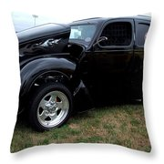 Black Betty Throw Pillow