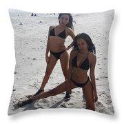Black Bikinis 13 Throw Pillow