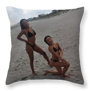 Black Bikinis 15 Throw Pillow