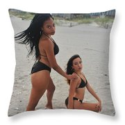 Black Bikinis 18 Throw Pillow