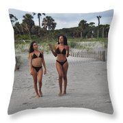 Black Bikinis 29 Throw Pillow