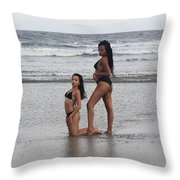Black Bikinis 33 Throw Pillow