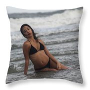 Black Bikinis 36 Throw Pillow