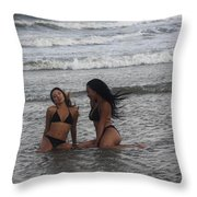 Black Bikinis 37 Throw Pillow