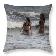 Black Bikinis 41 Throw Pillow