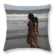Black Bikinis 43 Throw Pillow