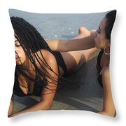 Black Bikinis 47 Throw Pillow