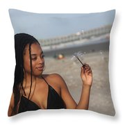 Black Bikinis 55 Throw Pillow