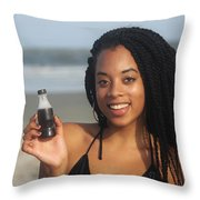 Black Bikinis 58 Throw Pillow