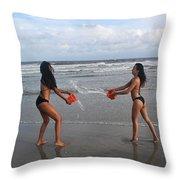 Black Bikinis 61 Throw Pillow