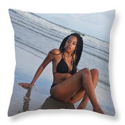 Black Bikinis 64 Throw Pillow