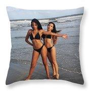Black Bikinis 65 Throw Pillow