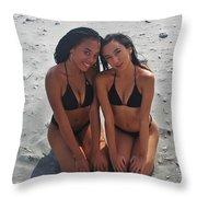 Black Bikinis 9 Throw Pillow