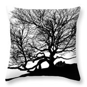Black Birch Silhouette 2009 07 Throw Pillow