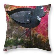 Black Bird Throw Pillow by David Sutter