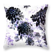 Black Blooms I Throw Pillow