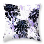 Black Blooms I I Throw Pillow